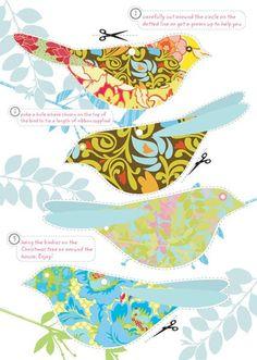 Papier Birdy Make-It herunterladen - Diy Paper, Paper Art, Paper Crafts, Paper Book, Paper Birds, Fabric Birds, Paper Trees, Bird Crafts, Bird Art