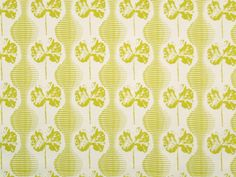 Geranium Weave - Canola on White