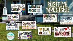 Positive Yard Signs Post Cards Show Off & Support Students! Students Day, Star Students, School Community, Classroom Community, Virtual Community, Community Building, School Yard Signs, Teacher Morale, Staff Morale