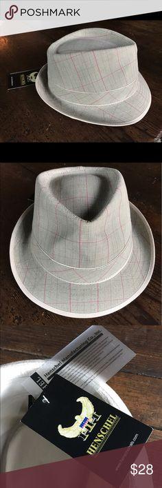 Henschel Fedora Plaid Hat Henschel Fedora Plaid Beige Large Size Hat Accessories Hats