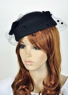 Bow Lace 100 Wool Elegant Lady Women Dress Formal Church Hat Fedora Cap Black | eBay