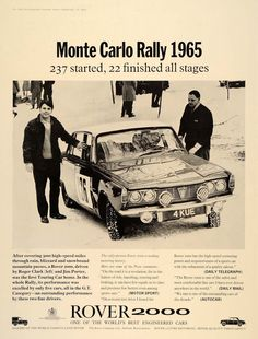 late '60's Rover 2000 - P6 Rover P6, Car Rover, Auto Rover, Monte Carlo Rally, Tata Motors, Car Advertising, Car And Driver, Print Ads, Vintage Advertisements