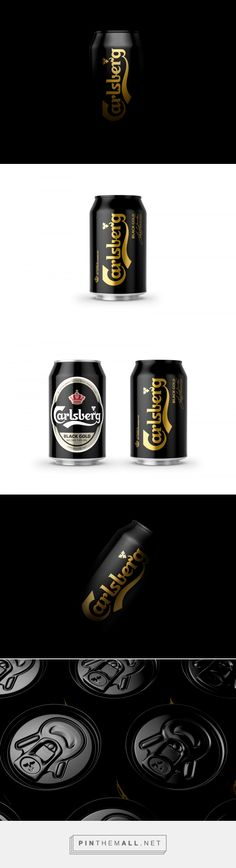 Carlsberg Black Gold design by Kontrapunkt - http://www.packagingoftheworld.com/2018/01/carlsberg-black-gold.html