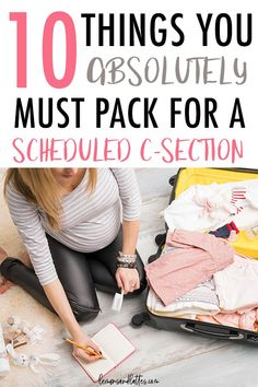 A realistic c-section hospital bag checklist. These are the top 10 items to include in your c-section hospital bag plus a free printable. Csection Hospital Bag, Pregnancy Hospital Bag, Packing Hospital Bag, Hospital Bag Essentials, Hospital Bag Checklist, Pregnancy Goals, 10 Essentials, Pregnancy Timeline, Pregnancy Period