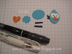 (1) sm Oval  (2) circles from the Bitty Punch Pack  (1) sm Heart in Pumpkin  (1) Boho Flower in Turquoise  Black scraps