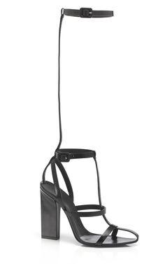 Shop Alexander Wang Black Aline T-Strap Sandal at Moda Operandi