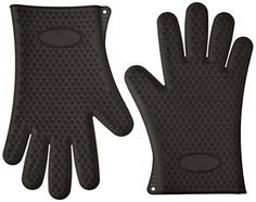 GF Pro Silicone Heat Resistant Multi-Purpose Grilling BBQ Gloves for Cooking, Baking, & Opening Jars etc.