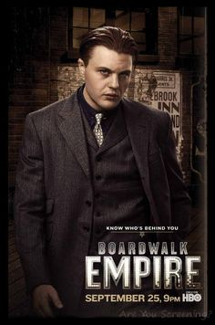 Promotional poster of Michael Pitt as James 'Jimmy' Darmody for Season 2 of Boardwalk Empire 25492962 Michael Pitt, Steve Buscemi, Sons Of Anarchy, Boardwalk Empire Characters, Jimmy Darmody, Terence Winter, Nucky Thompson, Poster, Empire