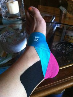 KT Tape for ankle support - it's gonna be colorful!!  But I'm gonna get back out there!