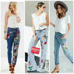 """220 curtidas, 2 comentários - Dalê (@dalefashionwork) no Instagram: """"Inspirações DaLê!!! .. Jeans bordado dando vida ao look!!!! .. #inspiraçõesdalê #inspiracao…"""""""