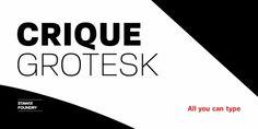 Crique Grotesk Font DOWNLOAD