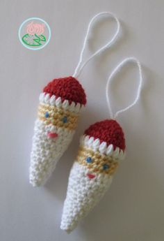 Amigurumi Santa Claus Ornament - Free Pattern from Toma Creations