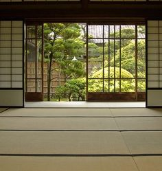 Tatami floors and shoji walls. My kids have taken out many a shoji screen at my in-laws' house with a stray elbow or toy. Houses Architecture, Detail Architecture, Architecture Career, Japanese Interior, Japanese Design, Japanese Style, Traditional Japanese House, Japanese Homes, Japanese Door