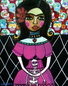 8x10  Day of the Dead Art Mexican Folk Art by HeatherGallerArt, $24.99