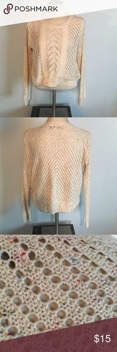 NWOT LC Lauren Conrad Sweater Size X-Large Beautiful open work sweater from LC Lauren Conrad. Never worn. Off-white with multicolor (see picture).  The picture doesn't do it justice. Size XL. Cotton. LC Lauren Conrad Sweaters Crew & Scoop Necks