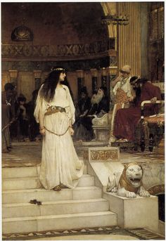"""Marianne Leaving the Judgment Seat of Herod."" Another Waterhouse painting I absolutely love."