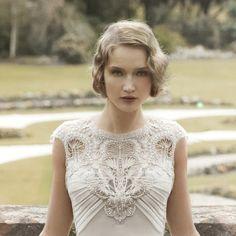 vestido de novia del estilo art déco