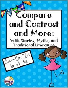 48 page set that is a fun and effective way to teach a variety of reading strategies including compare and contrast (stories, characters and story elements), author's purpose, finding evidence from the text, and more. Includes 10 double sided worksheets with paired passages to compare and contrast. $