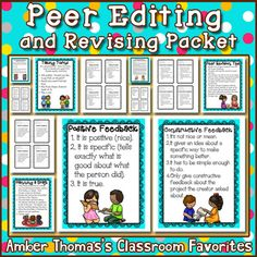 Teach your students how to be productive during their peer editing time.  $