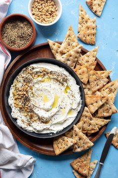 This recipe for homemade labneh (yogurt cheese) will give you a creamy smooth and delicious healthy cheese. Serve it for breakfast snack or as an appetizer. Appetizers For Party, Appetizer Recipes, Meze Platter, Greek Meze, Creamy Cheese, Toasted Almonds, Cake Flavors, How To Make Cheese, Mediterranean Recipes