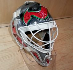 A closer look at Martin Brodeur's mask for @NHL #StadiumSeries NY. #NJDevils