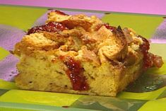 Get PB and J Bread Crust Pudding Recipe from Food Network