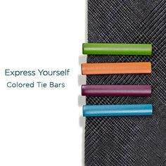 9d5d47b9a2d Colored Tie Bars - Express Yourself!