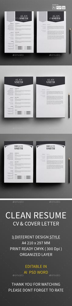 Clean Modern Resume V10 Fonts-logos-icons Pinterest Modern - resumes by design