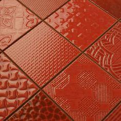 Rojo Tiles Red Tiles, Mosaic Tiles, Patchwork Tiles, Kitchen Tiles, House Design, Colours, Flooring, Ceramics, Shapes