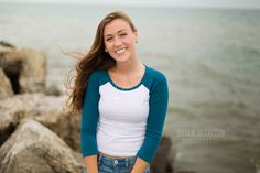 Photo by Brian Slawson Photography. Milwaukee senior photos on Lake Michigan #seniorphotos #portraits #MKE #beach