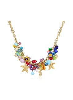 Antica Murrina Marilena - Murano Glass Marine Gold Plated Necklace
