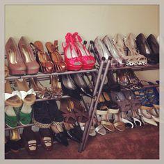 DIY shoe rack for my heels