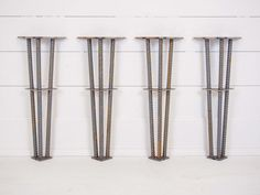 Industrial Metal Table Legs Set of 4 Dining Table Coffee Industrial Metal Table Legs, Vintage Industrial Furniture, Metal Furniture, Furniture Design, Coffee Table Desk, Dining Table, Diy Table Legs, Hairpin Table, Local Hardware Store