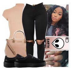 """sleeping  with the enemy X Sydney Renae"" by kodakdej ❤ liked on Polyvore featuring River Island, MICHAEL Michael Kors, Casetify and Puma"