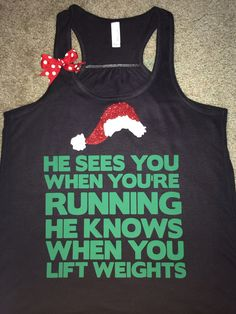 Christmas Tank -  Ruffles with Love - Racerback Tank - Womens Fitness - Workout Clothing