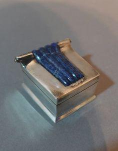 Vancox Silver and Lapis Art Deco Box :