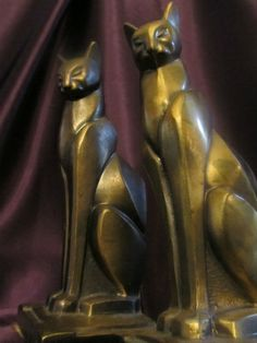 Art Deco Cat Bookends