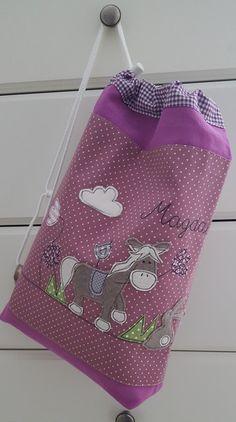 Kindergartentaschen - Sportbeutel/Turnbeutel Pferd Namen - ein Designerstück von Feinerlei bei DaWanda