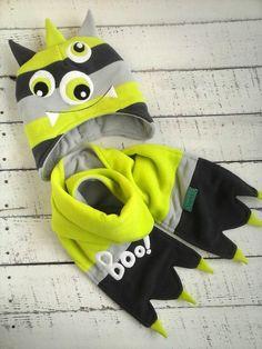 Комплект из двойного флиса.Шапка+шарф.112