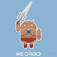 Because there's a Superhero in each one of us! #android #HeDroid #superhero
