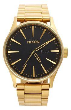 Black & Gold Nixon Watch