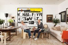 Andy Warhol & Jean-Michel Basquiat Collaboration : Architectural Digest
