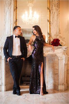 Glamorous Engagement Shoot ~ Venue: Chateau Cocomar ~ Photo: Civic Photos