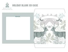 Printable Christmas cd cover. These would make such nice Christmas presents.
