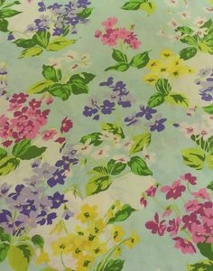 Vintage Springmaid Marvelaire Bright Floral Standard Pillowcase by EastWestVintage1 on Etsy