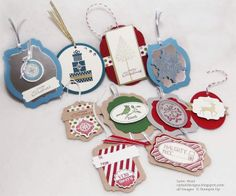 Cattail Designs: Stampin Up Christmas Tags #StampinUp, #ChristmasTags,