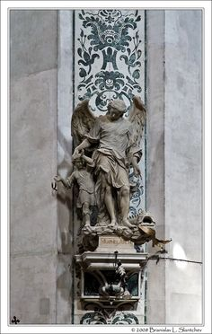 Statue of Archangel Raphael by Torretti