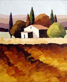 """Sveta Esser Hand Signed and Numbered Limited Edition Giclee on Canvas: """"Nature's Landscape"""""""