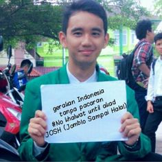 Saya Dukung #indonesiatanpapacaran .  Follow @indonesiatanpapacaran