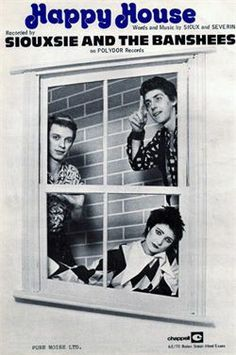 SIOUXSIE AND THE BANSHEES - HAPPY HOUSE- OFFICIAL POSTER